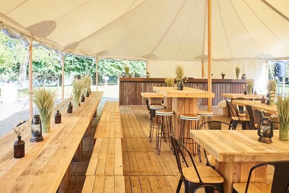 feest tent huren tent met houten vloer