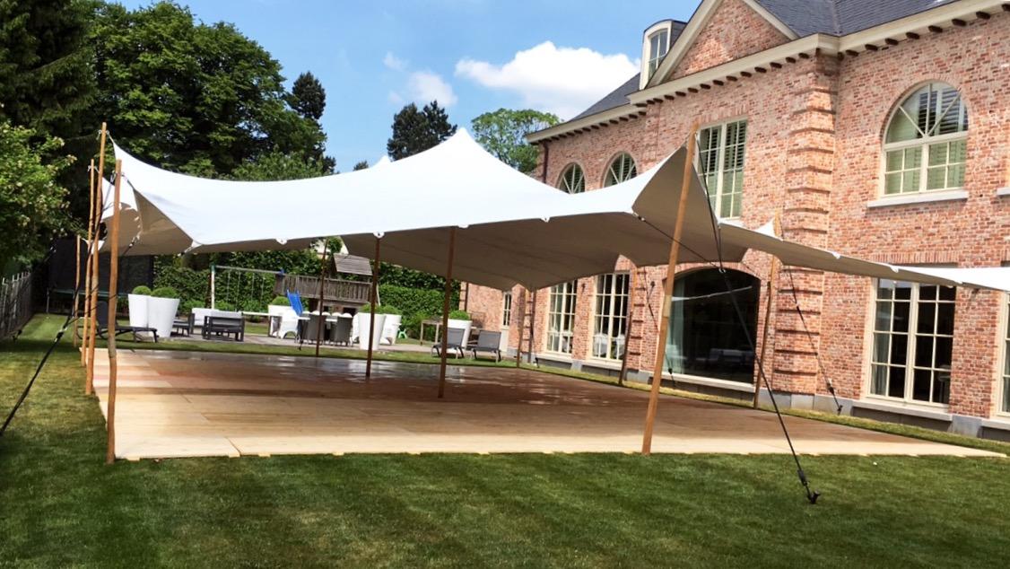 Plancher de tente en bois pour la Villa