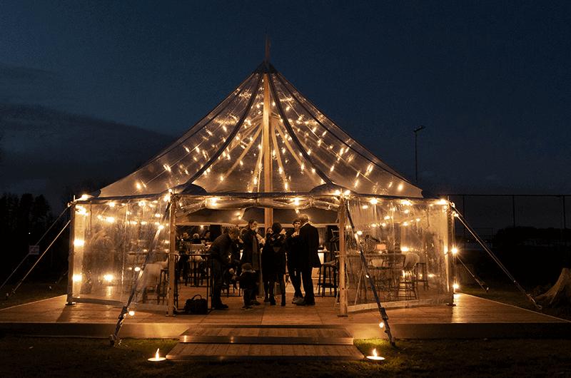 2VRent sailcloth tent